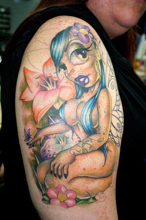 sexi naked fairy tattoo