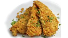 Crispy Dorito Baked Chicken Tenders - Eggless Rich Bitch Cooking Blog  This is the egg free crispy chicken I've been waiting for. It's not so much the doritos that make this perfect but using a touch of yogurt & milk for instead of eggs.