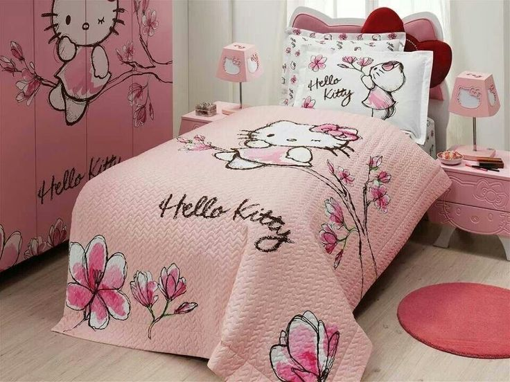 Future Daughteru0027s Room Hello Kitty Mangolia   Quilted Duvet Cover ( Four  Seasons Set )