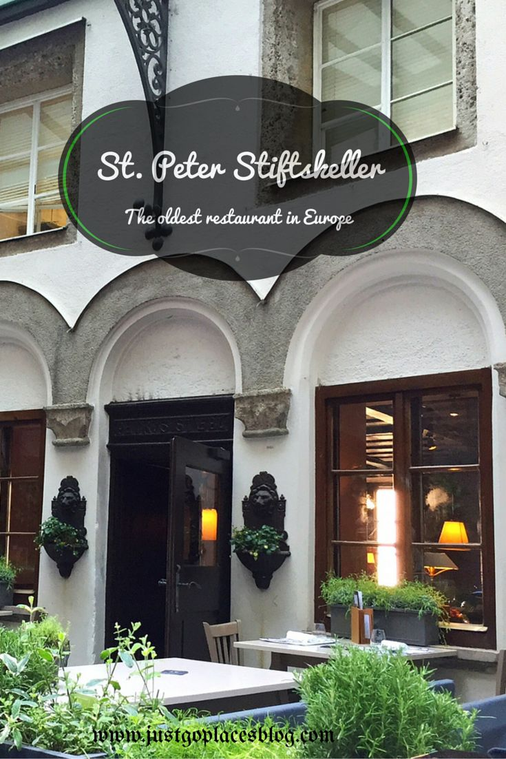 St. Peter Stiftskeller in old town Salzburg in Austria is the oldest restaurant in Europe
