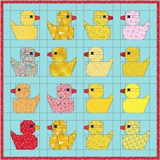 Maartje Quilt in Amsterdam: Moka pot and rubber ducks