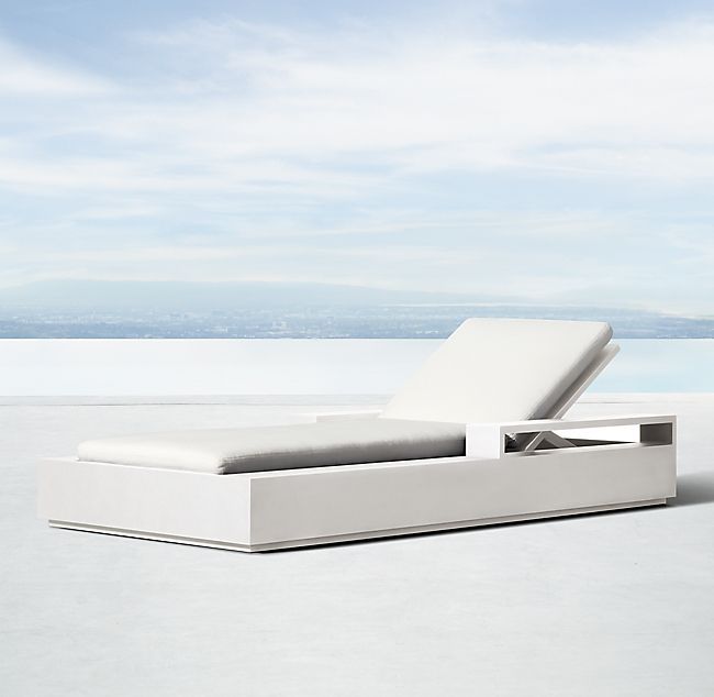 Marbella Aluminum Chaise Modern Pools Chaise Cushions Outdoor