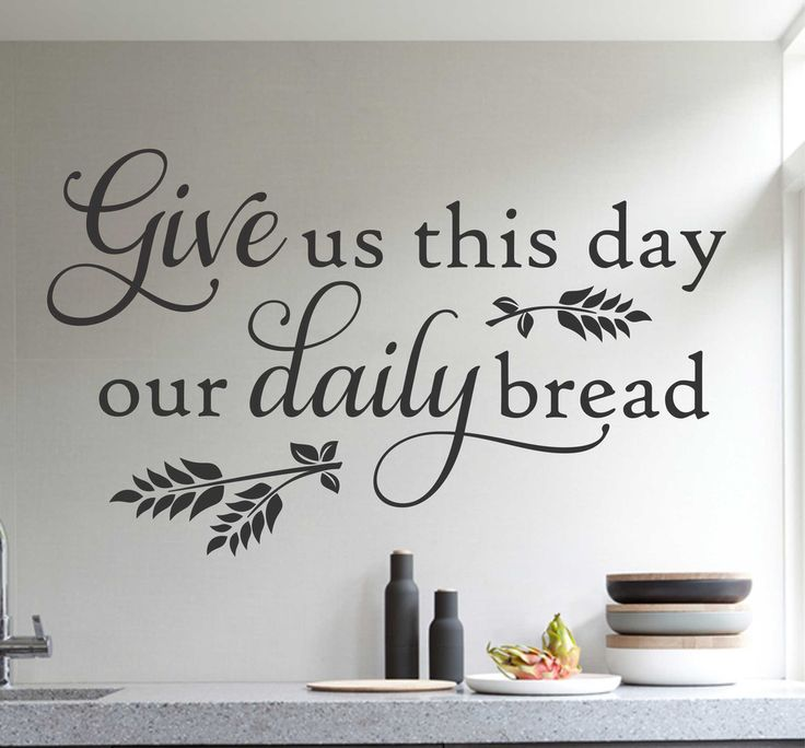 Kitchen wall vinyl quotes