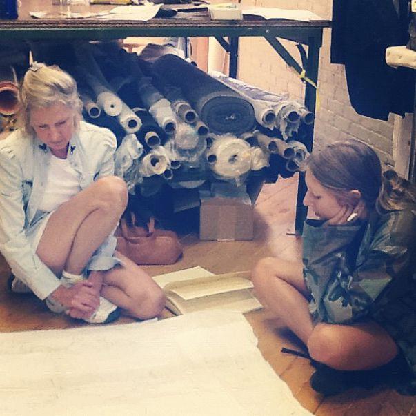 Eve and Chloe brainstorming