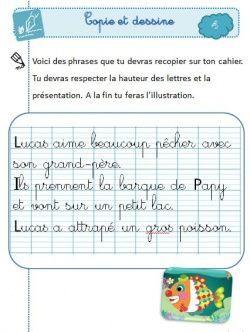 Copie et dessine : super rituel de copie au CP Toujours un super boulot de Sanleane