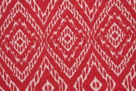 Robert Allen Strie Ikat Upholstery Fabric in Poppy $20.95 per yard
