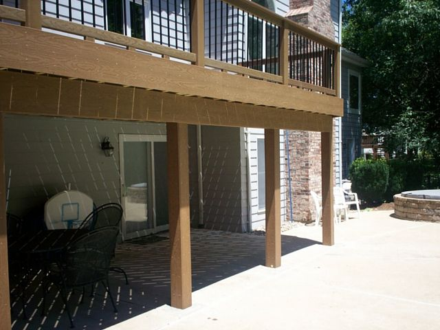 An Elevated Composite Deck Adds An Attractive And