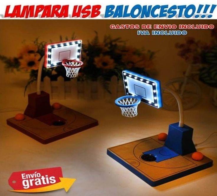 Lamparas baloncesto regalos navidad hogar - Iluminacion original ...
