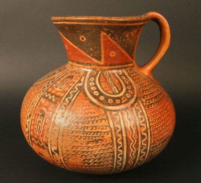 Jarro polícromo, cultura Arica, Andes del Sur