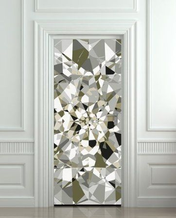 "Amazon.com: GIANT Door STICKER diamond rhinestone crystal poster, mural, decole, film 30x79"" (77x200 Cm): Home & Kitchen"