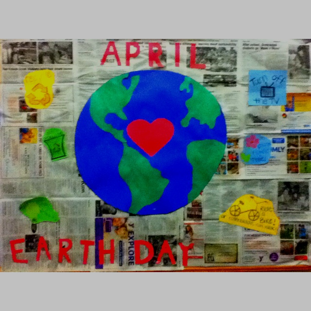 My Earth Day bulletin board for the month of April