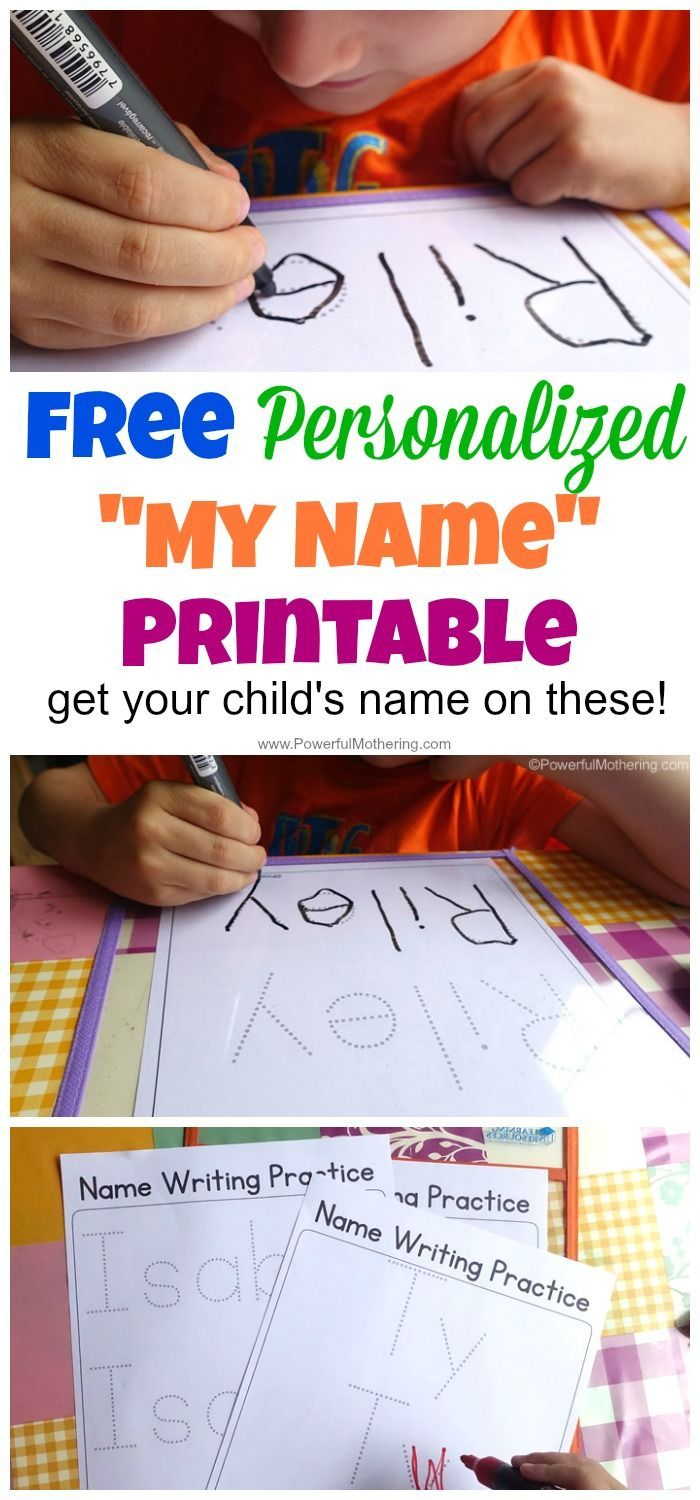 Free personalized printable with your child's name on it to practice writing with. HOW COOL IS THIS!!