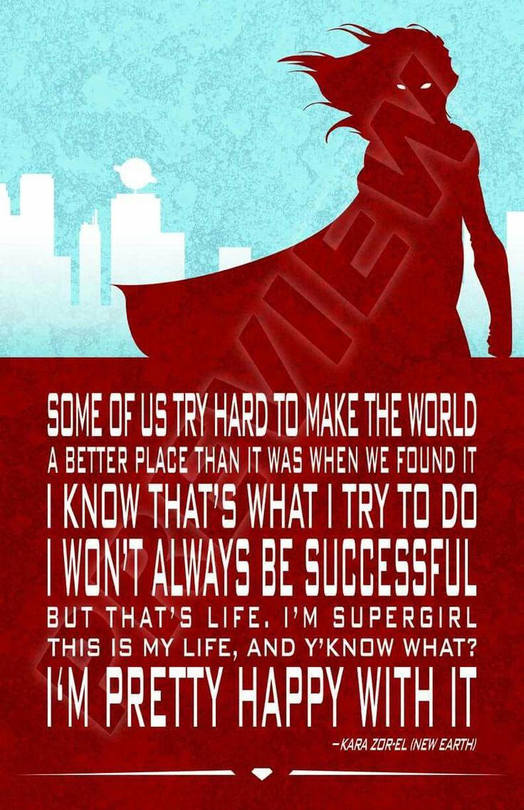 Supergirl quote. Kara Zor-El. Power Girl, Teen Titans, Justice League. DC Comics