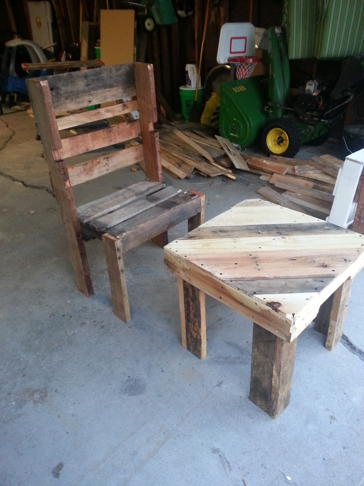 How to build an end table out of pallets woodworking for End tables out of pallets