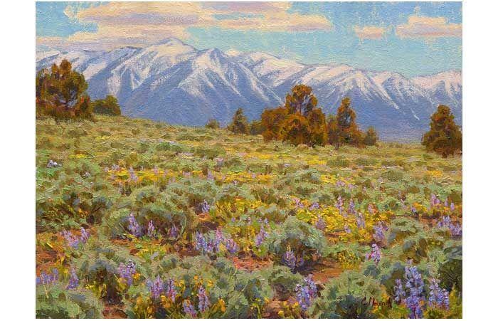 11 Lukisan Kanvas Pemandangan Yang Mudah Melukis Pemandangan Itu Mudah Kopi Keliling Download Berbekal Benang 1 Di 2020 Ilustrasi Lukisan Seni Digital Pemandangan