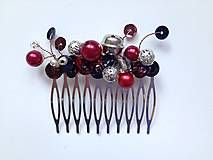 hair comb with beads