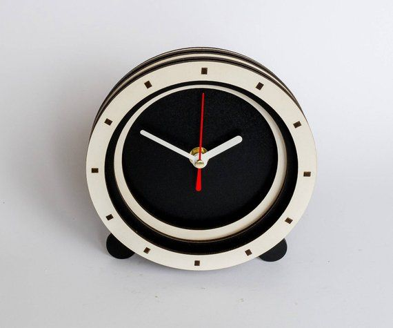 White Black Clock 10th anniversary gifts for him Wedding