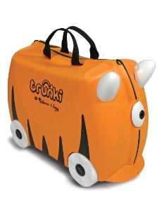 trunki tiger ride-on suitcase from melissa and doug from $28 on amazon - click image for more information - #travel #familytravel #travelwithkids #kids #luggage #suitcase