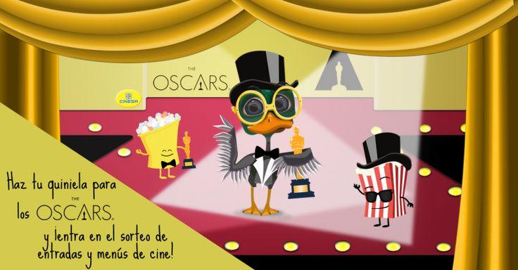 #Sorteo de entradas y menús de cine con la quiniela de los Oscars #concurso http://sorteosconcursos.es/2016/02/sorteo-de-entradas-y-menus-de-cine-con-la-quiniela-de-los-oscars/
