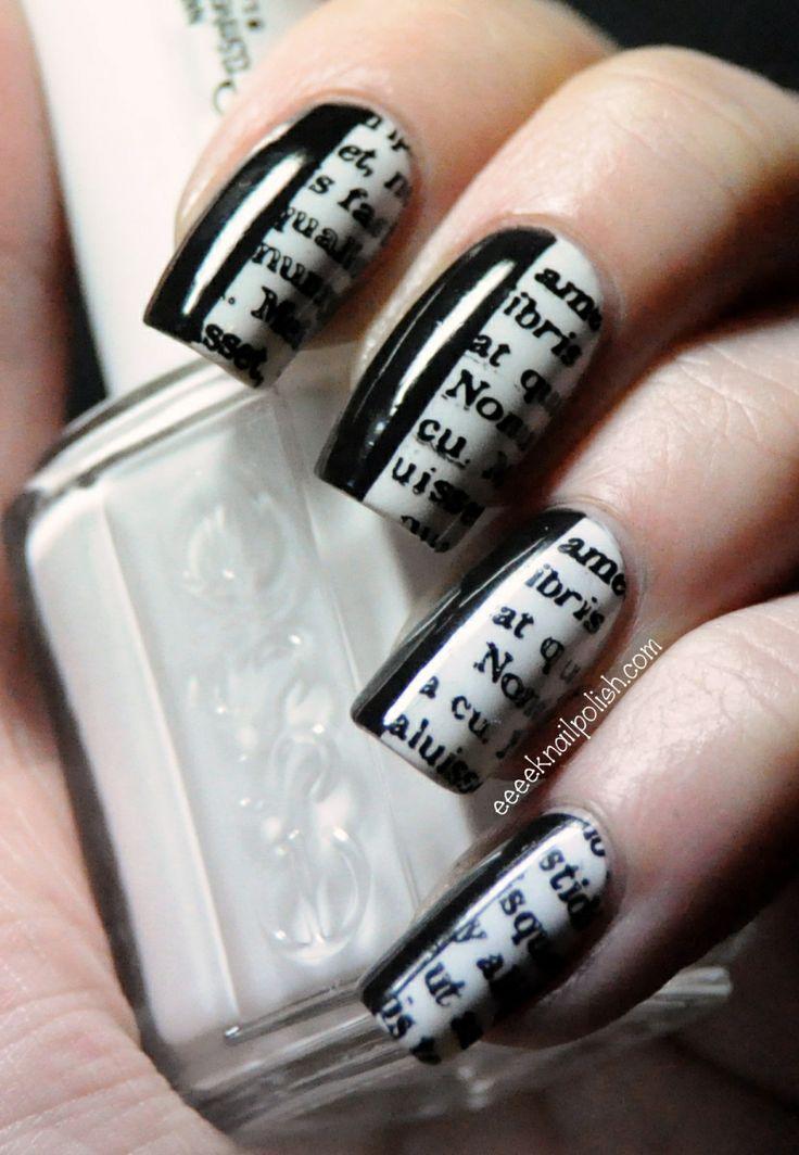 SH – Nailgrowth Miracle Essie 'Blanc' (2 coats) Maybelline Express Finish 'Black Onyx' (1 coat) VividLacquer plate VL004 Konad Stamping Polish 'Black' Seche Vite