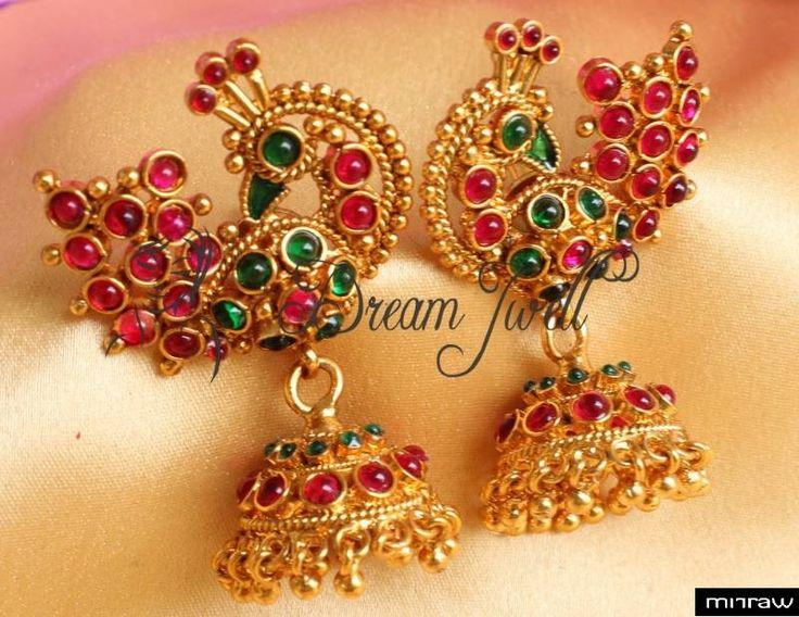 Beautiful antique peacock earrings
