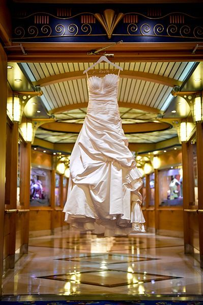 Ariel inspired wedding dress aboard Disney Cruise Line