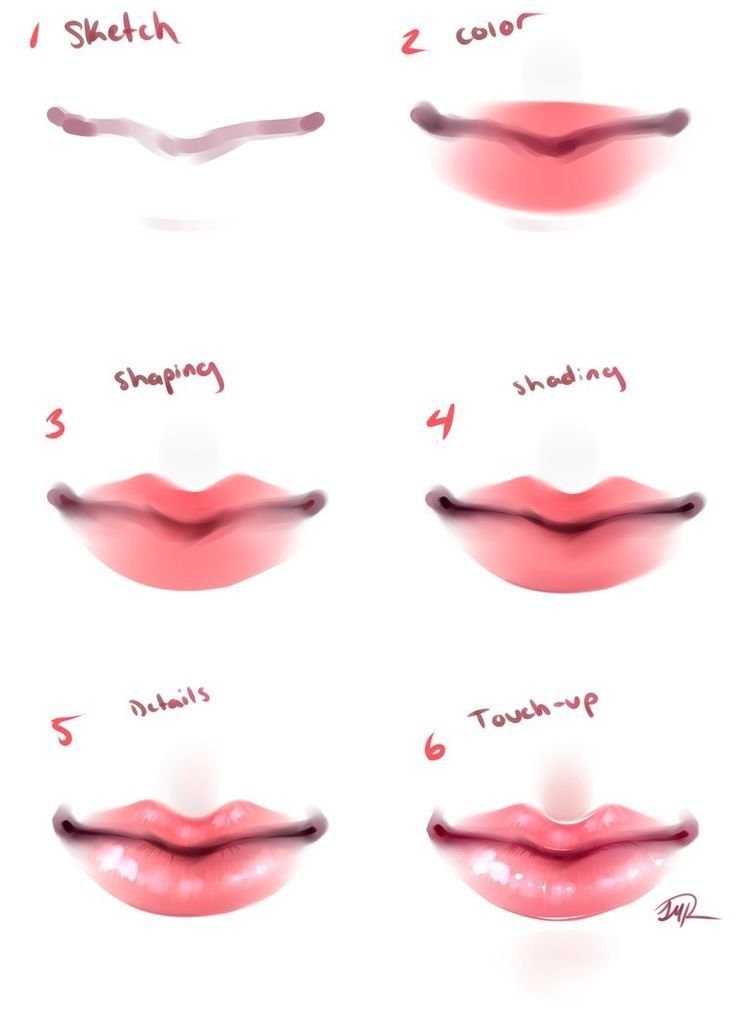 Draw Lips Color Tutorial Google Search Lips Drawing Anime Art Tutorial Anime Lips