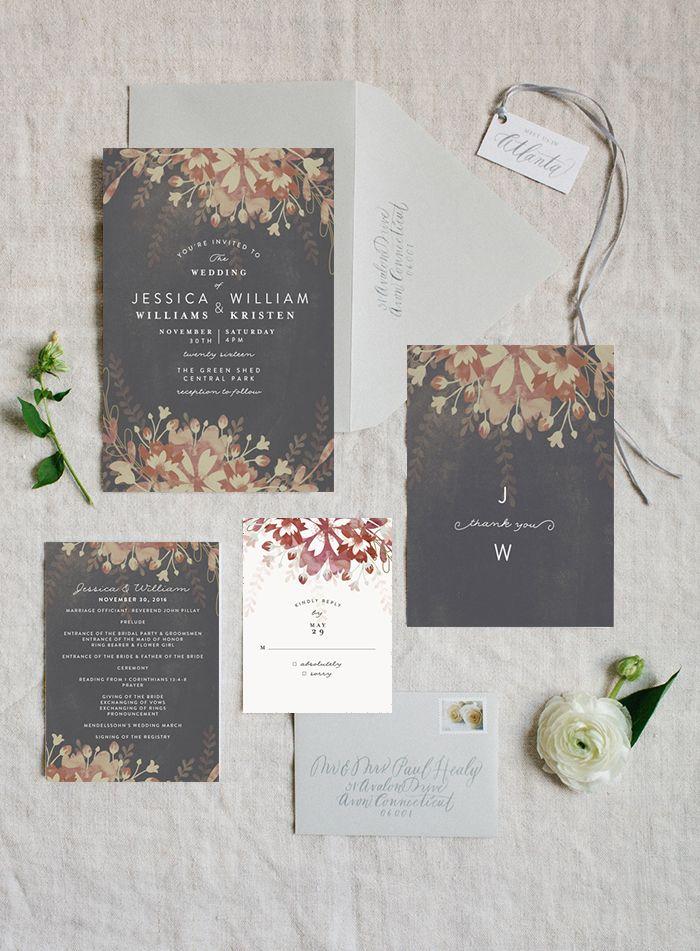 17 Best ideas about Plum Wedding Invitations – Purple Fall Wedding Invitations