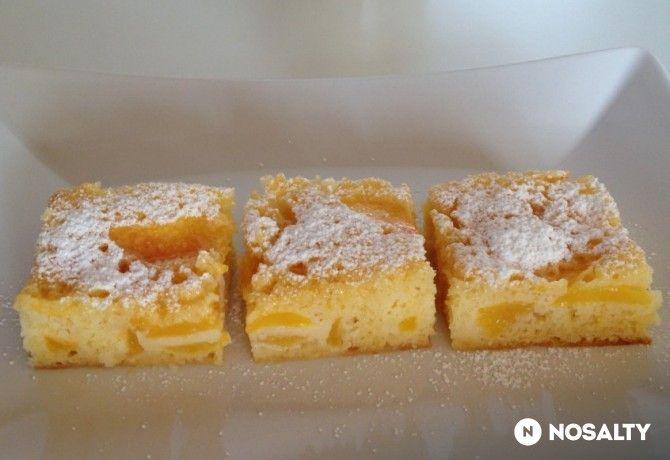 Őszibarackos-citromos pite