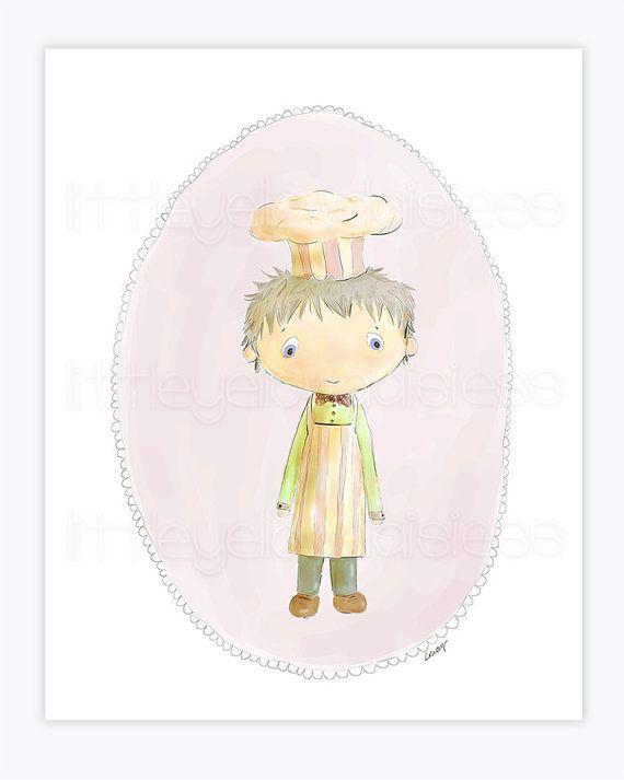 Printable Nursery Art''LittleCook'Nursery by LittleYellowDaisiess