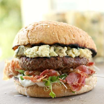 Blue Cheese Burger with Pancetta