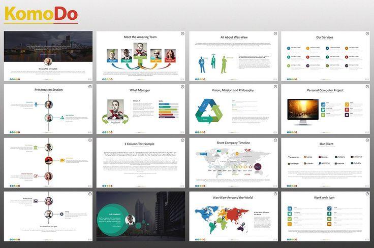 KomoDo Powerpoint Template by izzatunnisa on @creativemarket