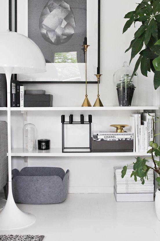 #living #grey #white #scandinavian