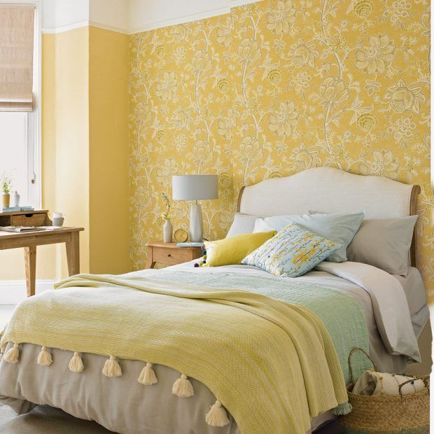 Yellow Bedroom Ideas For Sunny Mornings And Sweet Dreams: Blue Bedroom Decor, Bedroom Color Schemes