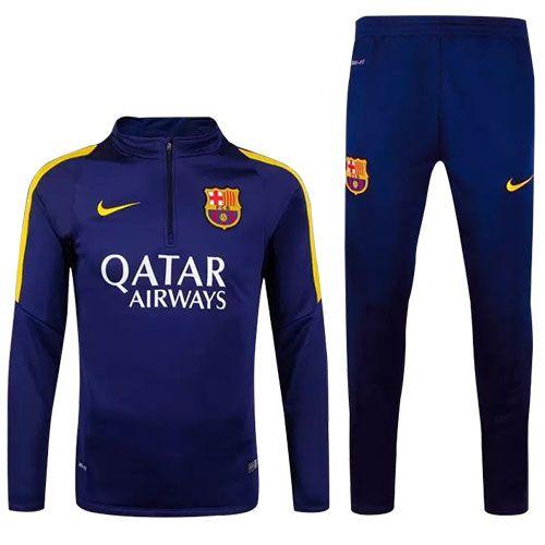 2016 FCバルセロナ サッカートレーニング セット 長袖 濃いブルー 激安通販 -…