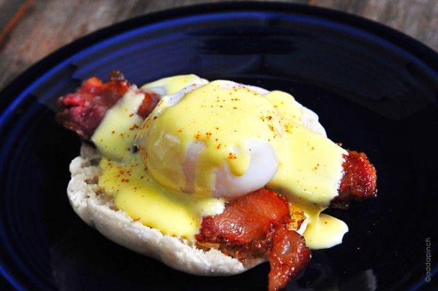 Simple Eggs Benedict Recipe from addapinch.com