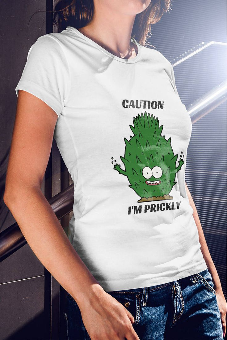 Last Minute Christmas Gift - I'M PRICKLY TEE: Cactus T-shirt, Funny Shirt, Cute, Girl Clothes, Boyfriend Gift /  GIFT!, Christmas Gift by VinylLoversUnite on Etsy