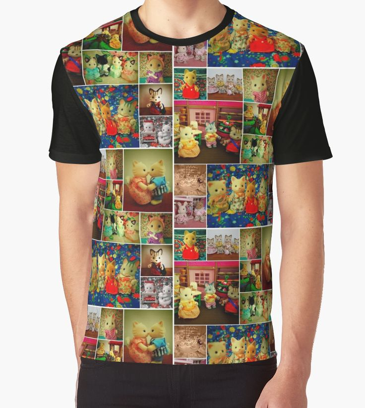"""""""Sylvanian Families ~ Cats"""" Graphic T-Shirts by Forever Feline 