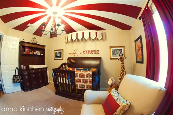Circus themed room one of my favs children 39 s bedroom for Circus themed bedroom ideas