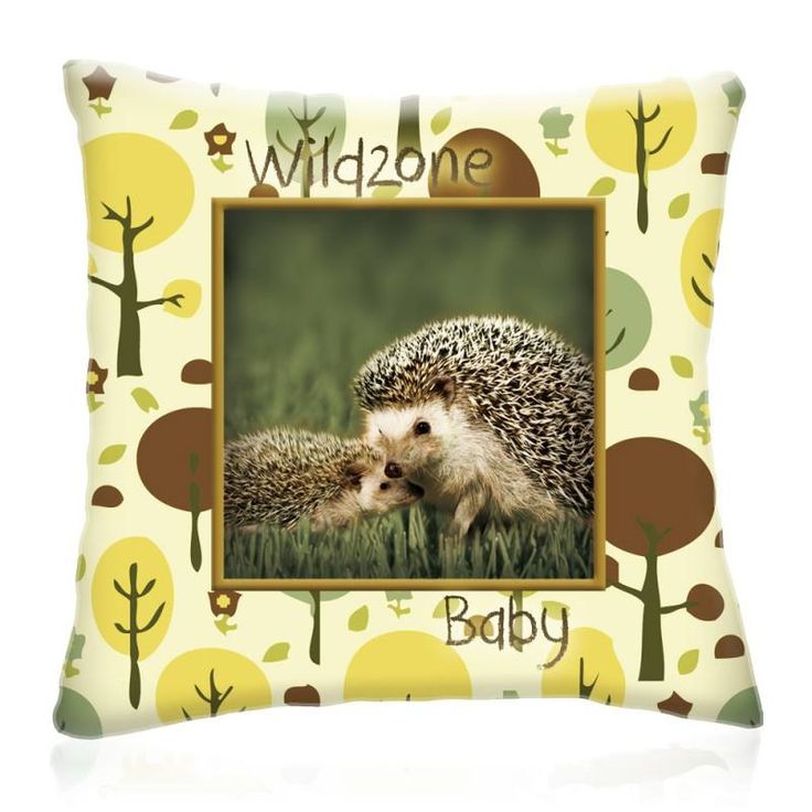 WILD ZONE Baby SÜNIK állatos díszpárna 28x28 cm - Díszpárna.com Webáruház