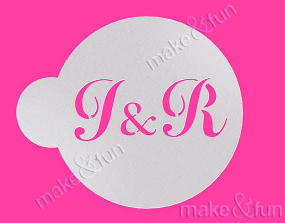 Personalized Monogram StencilWedding Cookie Stencil by makeandfun