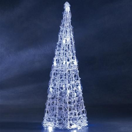 Konstsmide 6105-003 LED Medium Clear Acrylic Christmas Tree
