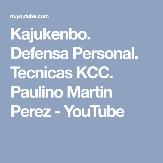Kajukenbo. Defensa Personal. Tecnicas KCC. Paulino Martin Perez - YouTube