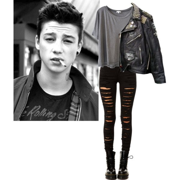 Untitled #88 by violent-eyes on Polyvore featuring Clu, Tripp, Ash, rock and grunge