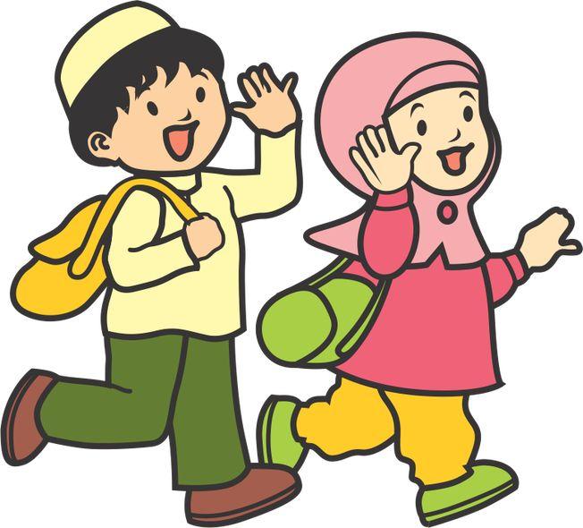 Hasil Gambar Untuk Gambar Anak Sholeh Dan Sholehah Kartun Kurikulum Animasi