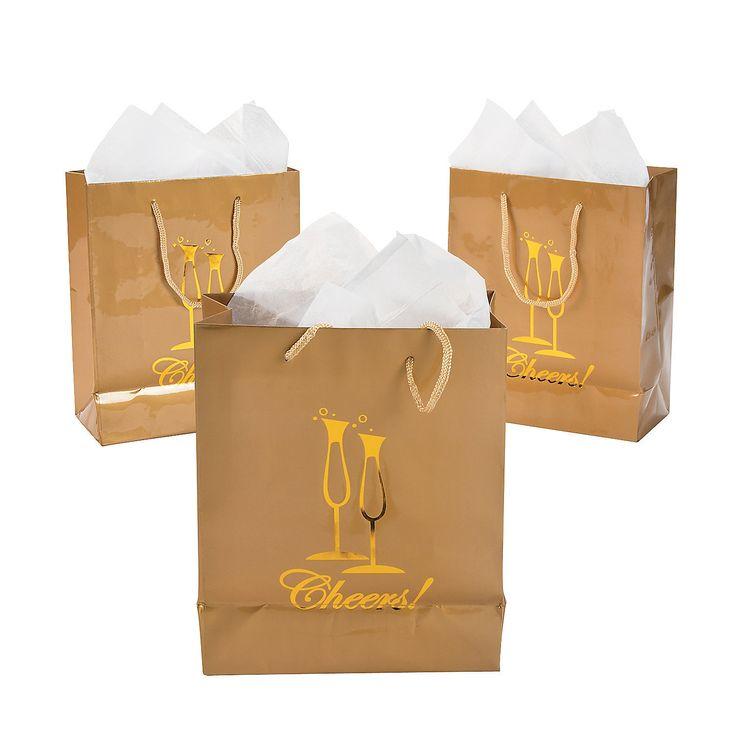 Cheers! Medium Gift Bags - OrientalTrading.com