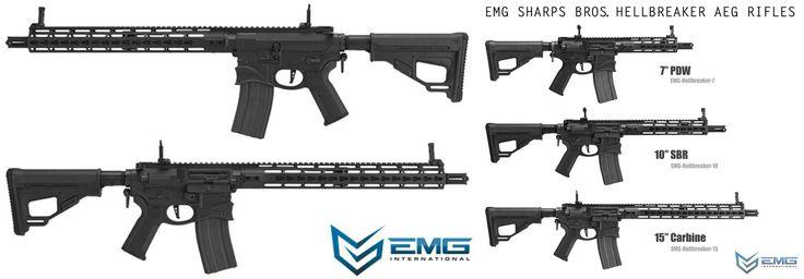 "Ares x EMG Sharps Bros. M4 Hellbreaker ""Octa²rms"" Keymod 15"" EFCS AEG - Black #emg #hellbreaker #emghellbreaket #ares #airsoft"