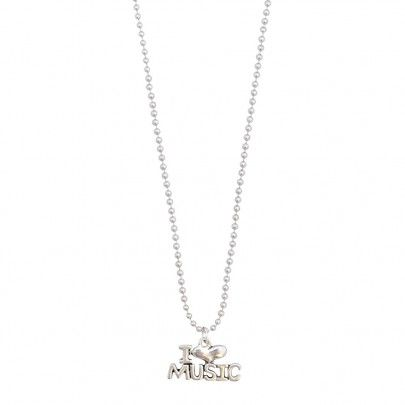 Musical Necklace Silver - I Love Music from Pentatonic Music - Rp 38.000