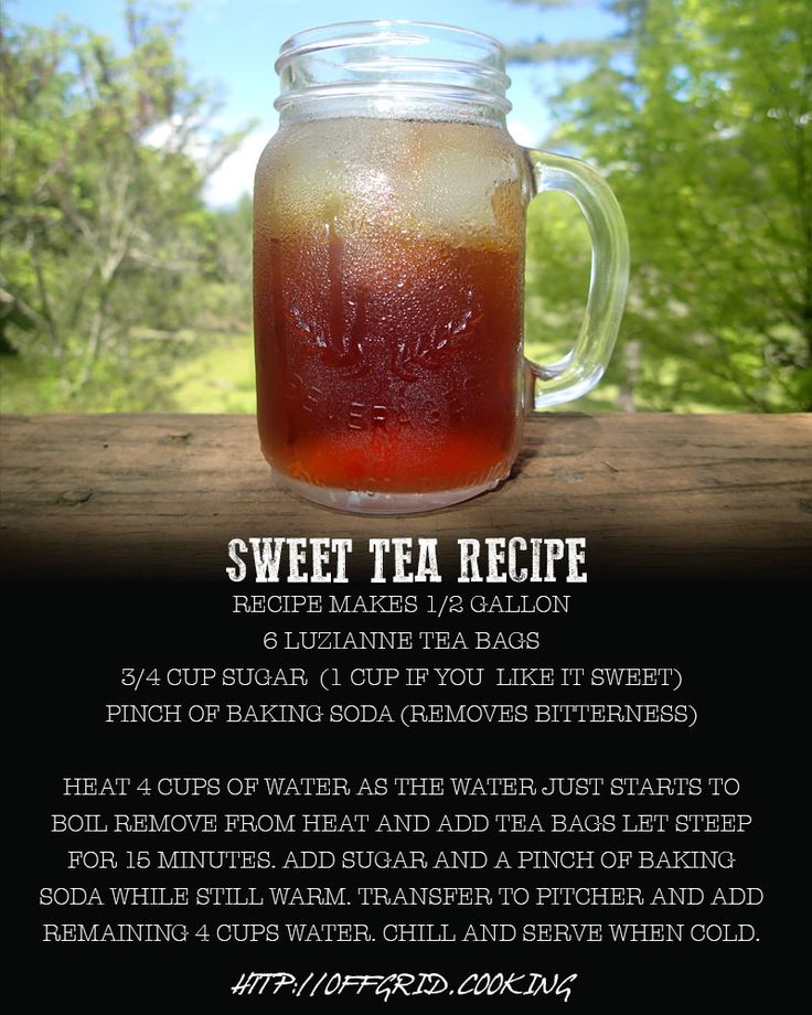 Southern Sweet Tea Recipe | I drink my tea hot and a little bitter, but my almost stepson likes sweet tea, so I need to learn to make it this way.