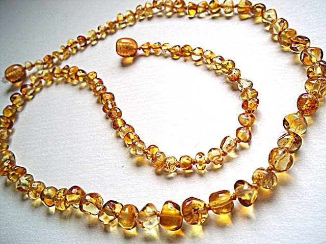 Baroque Golden Baltic Amber Choker. Amber is a gem, but it is a resin of ancient Jurassic period trees that petrified over a period of tens of millions of years. The age of Amber is between 35 and 140 million years. Amber can be found in many countries, but the Baltic Sea region contains 95 percent of the world's amber. Baltic amber is considered to be the best in the world for its beauty and quality.